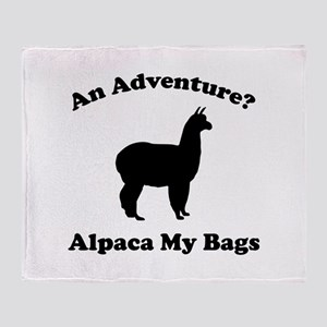An Adventure? Alpaca My Bags Stadium Blanket
